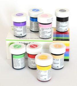 zestaw kuchennych barwników